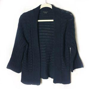 Theory Navy Open Knit Cardigan